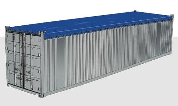 40-футовый контейнер OPEN TOP с открытым верхом
