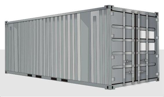 20-футовый стандартный контейнер
