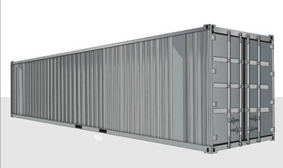 40-футовый стандартный контейнер