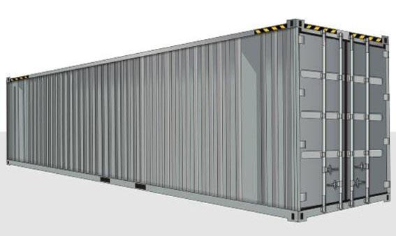 40-футовый HIGH CUBE контейнер (увеличенной вместимости)