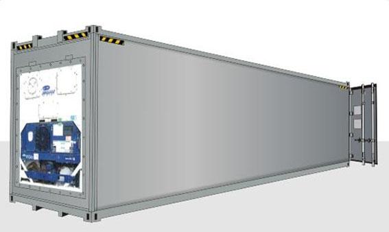 40-футовый HIGH CUBE рефрижераторный контейнер (увеличенной вместимости)